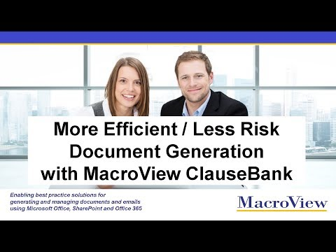 Document Generation with More Efficiency and Less Risk