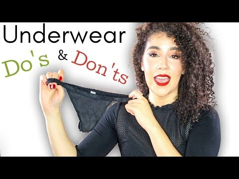 5 Underwear Do's and Don'ts   Things You Should Know About Panties   G String Tips  #panties