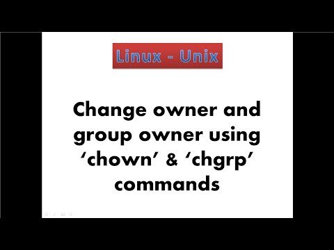9. Linux - Change owner and group owner of file and directory in linux using