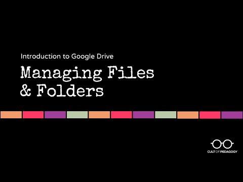 Google Drive Basics: Managing Files and Folders