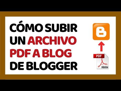 Cómo Subir un Archivo PDF a Blogger 2018 | Cómo Usar Blogger 2018