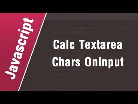 Javascript Arabic Tutorials - Calculate Textarea Characters With On-Input Event