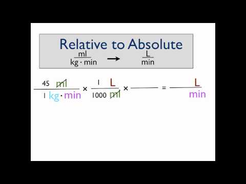How to convert relative to absolute VO2 values