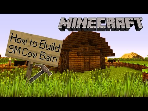 Minecraft | How to Build | Small Cow Barn