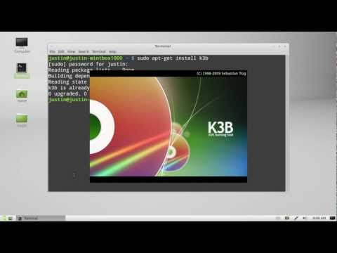 how to burn cds and dvds on Linux Mint 13