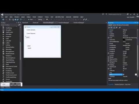 Save and Change Username and Password in Visual Basic 2013