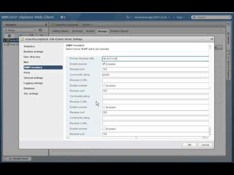 SMTP NTP Settingsfor vCenter Server