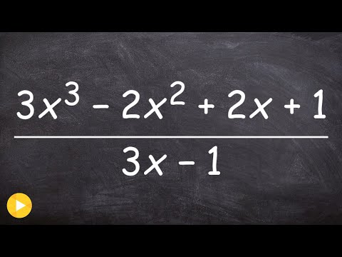 How to apply synthetic division when the zero is a fraction
