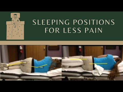 Sleeping Position to decrease low back pain, sciatica, knee pain, or hip pain