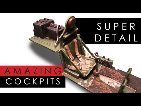 How to add scratch built detail to a scale model aircraft cockpit - super detailing