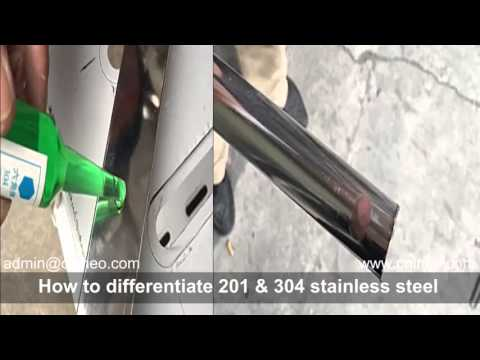 How to differentiate S.S.201 & S.S.304 (stainless steel testing liquid)
