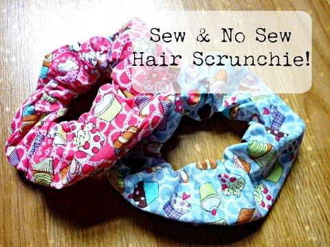 DIY Hair Scrunchie: Sew and No Sew ¦ The Corner of Craft