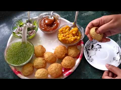 Paani Puri preparation