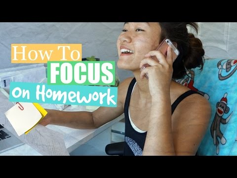 10 Tips On: HOW TO FOCUS ON YOUR HOMEWORK