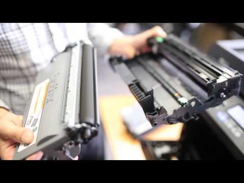 How to change Brother laser printer toner cartridge - by Inkjetstar.com