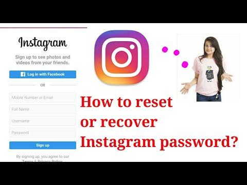 How To Reset Instagram Password||