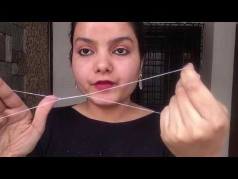 How to do painless threading by your own || upper lips threading and facial hair removing Tutorial