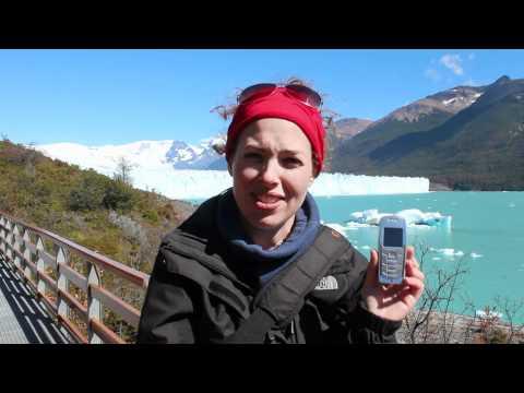 Using Your Mobile Phone in Argentina's Perito Moreno Glacier