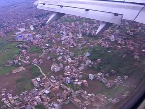 Flying into Kathmandu, Nepal