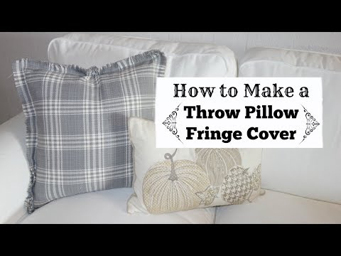 DIY Throw Pillow | How To Make A Fringed Pillow Cover