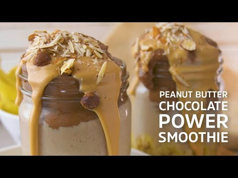 Peanut Butter Chocolate Power Smoothie