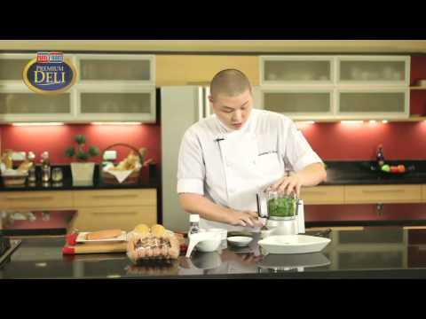 Turkey Dog Sandwich with Malunggay Pesto Sauce