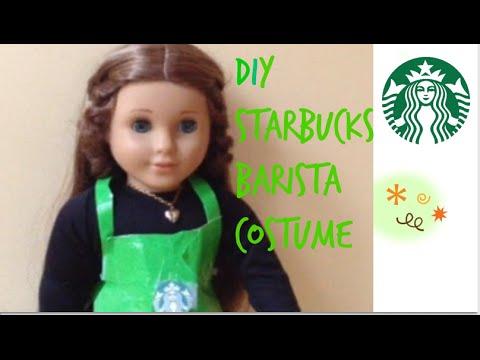 DIY NO-SEW AG Starbucks Barista Dolloween Costume Tutorial