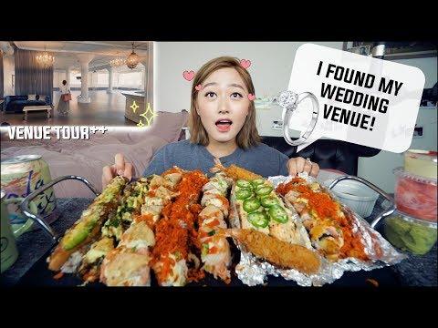 Signature Sushi Rolls Feast Mukbang!! + I found my Wedding Venue!!| KEEMI★