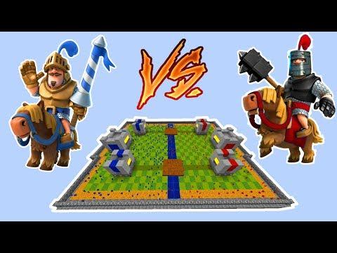 Minecraft CLAY SOLDIERS CLASH ROYALE! • Prince VS Dark Prince!