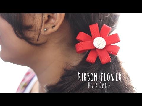 DIY: Ribbon Flower Hair Band