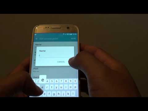 Samsung Galaxy S7: How to Change Network Access Point Name