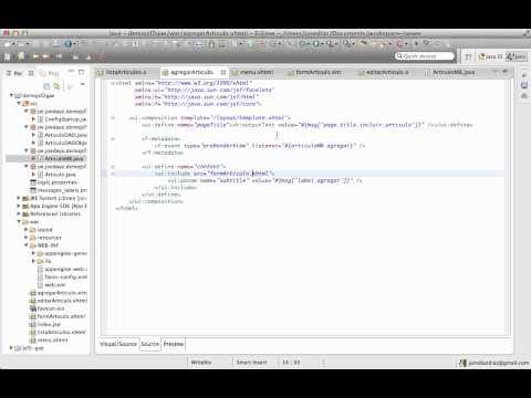 Demo de JSF2, Objectify en Google App Engine - Parte 5