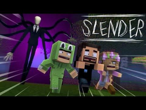 SLENDERMAN CHASES THE BABIES AROUND THE SPOOKY NEIGHBOURHOOD - Minecraft Adventure