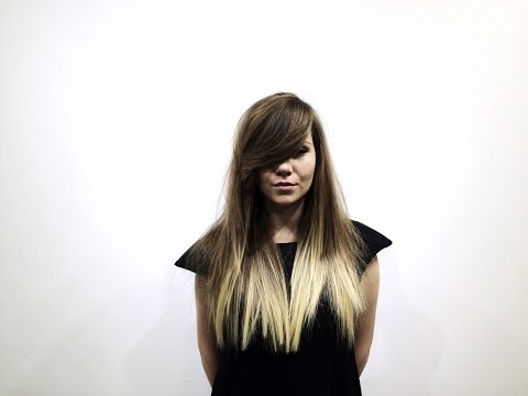 long haircut with layers tutorial, heavy asymmetrical fringe