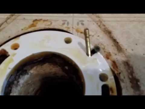 Toilet bolts that spin! How to stop them even if the toilet is already installed.