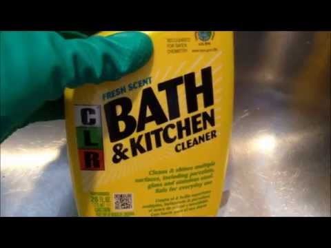 HOW TO Clean Up Stainless Steel Sinks: CLR Kitchen Cleaner - :