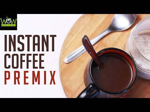 Instant Coffee Premix Recipe   How to Make Instant COFFEE At Home?   Online Kitchen   Wow Recipes