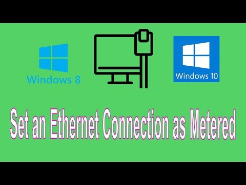 How to Set an Ethernet Connection as Metered in Windows 10 and 8 to Control Windows Updates