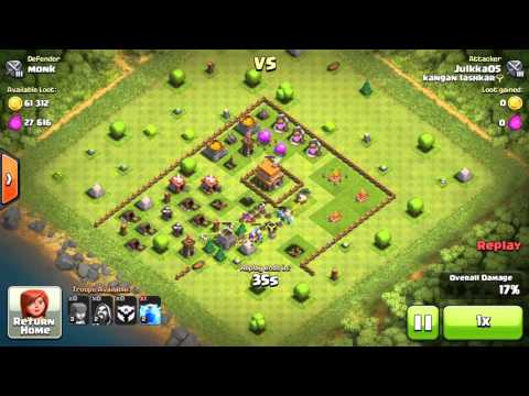 COC Monk V Jukka05 Clash of Clans Game Play