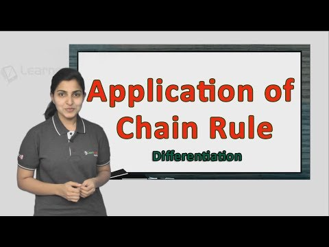 Know more about Application of Chain Rule. JEE Maths Differentiation