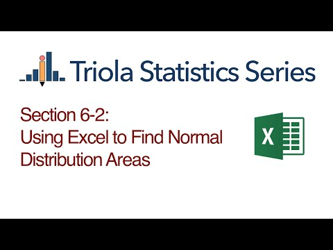 Excel Section 6-2: Using Excel to Find Normal Distribution Areas