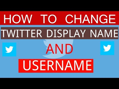 How to Change Twitter Handle, Username and Display Name 2018