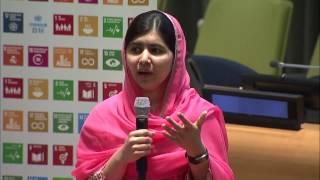 Malala Yousafzai (UN Messenger of Peace) conversation about girls