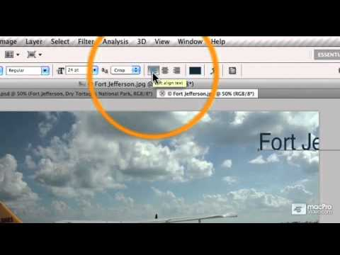Photoshop CS5 103: Adding Text To Images - 05 Adding the Text Layer