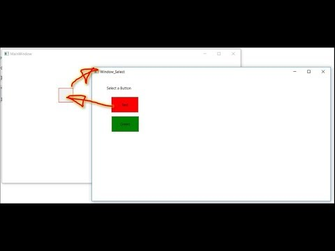 WPF Open Selection Window with Argument and Select Handle