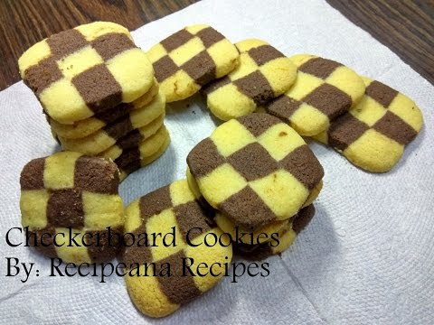Checkerboard Cookies Recipe in Hindi | Eggless Cookies Recipe At Home | Recipeana