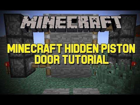 MineCraft Pc - How To Make Hidden Piston Door 1.7.9 version ( QUICK AND EASY 2014 )