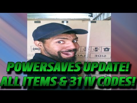 POWERSAVES UPDATE!: ALL ITEM AND 31 IV CODES!
