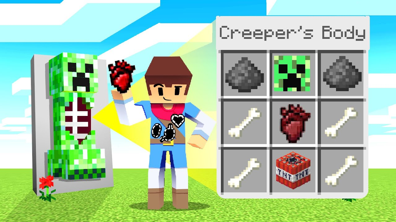 Stealing MOB ORGANS To UPGRADE In Minecraft! (Gross ...)