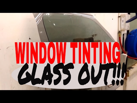 Car window tint installation | How to window tint your car door glass out of the car
